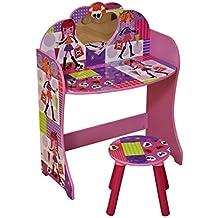 Liberty House Toys–Fashion Girl–Juego de tocador y taburete, madera, multicolor