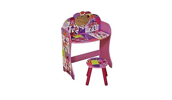 Liberty house toys fashion girl toeletta e sgabello legno