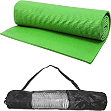 Generic Yoga Mat4mm thick GREEN - Long size yoga mate for men women & with Bag Cover