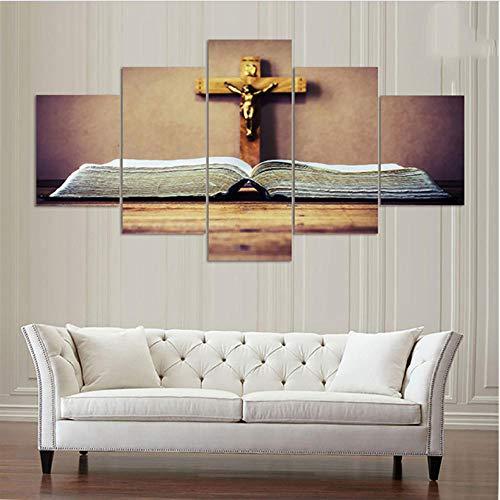 Bild Wandkunst Bilder Modulare Poster Leinwand 5 Stück/Stücke Kruzifix Von Jesus Christus Moderne Hd Gedruckt Gemälde Wohnkultur
