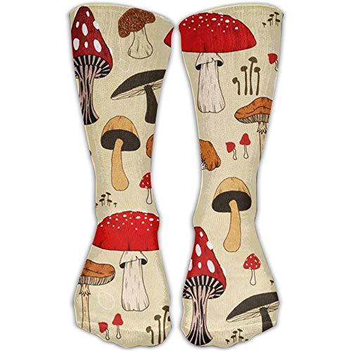 antoipyns The Various Mushroom Art Fashion Long Socks Soft Warmer Strümpfe 1 Paar für Damen & Herren Sport High Socks
