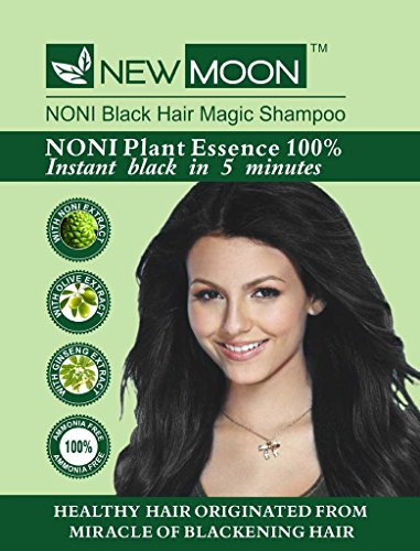 NEW MOON Noni magic black hair colour shampoo (10 pcs of 15 ml )
