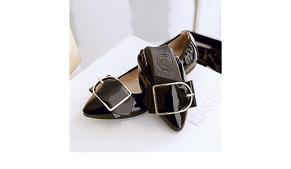 GAOLIM omelettes Femme Chaussures Light-paint, qui à chaussures à bout avec un fond plat de chaussures de chaussures de chaussures de femmes enceintes Volume Volume Volume, Noir, 42