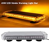 SXMA 48LED Spia di Emergenza Spia Luminosa Tettuccio di Sicurezza per Auto Bar Lampeggiante Stroboscopico Lampeggiante Barra Luminosa per Auto Faro