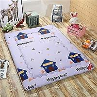 GJFLife Suelo Hipoalergénico Tatami Primeros del colchón Plegable Mat, Respirable Poliester Sleeping Pad Japonés Futón Protector Cubierta-Z 200c220x4cm