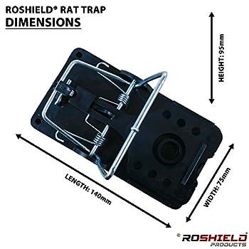 1 X Roshield External Rat Snap Trap Control Box - Green No Poison Professional Solution 5