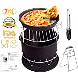 WYCY Air Fryer Accessories Deep For Gowise Phillips And Cozyna With Non Stick Pan Material Fit All 3. 7Qt-5. 3Qt-5. 8Qt Set Of 5 Cake Pizza Barbecue[2 Special Gift]