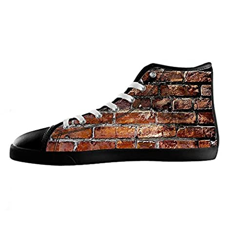 Custom Texture brick wall Men's Canvas Shoes Lace-up High-top Footwear Sneakers Chaussures de toile Baskets