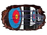 3D Wandtattoo Sport Bogenschießen Pfeile Bogen Bild selbstklebend Wandbild sticker Wohnzimmer Wand Aufkleber 11H1459, Wandbild Größe F:ca. 97cmx57cm