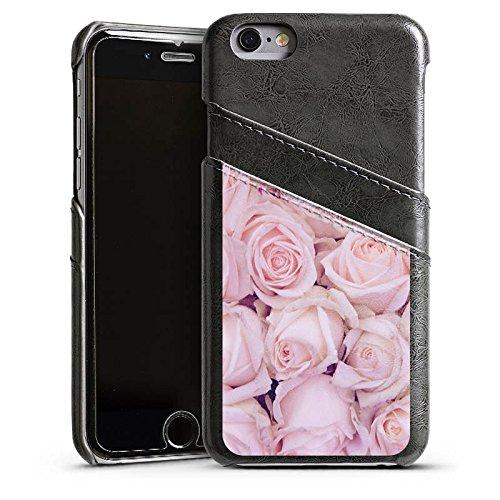 Apple iPhone 6 Housse Étui Silicone Coque Protection Roses Roses Roses Étui en cuir gris