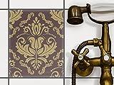 creatisto Badfolie | Dekorations-Sticker Aufkleber Folie PVC Fliesen Küchen-Fliesen Badezimmergestaltung | 20x25 cm Design Motiv Retro Revival - 1 Stück