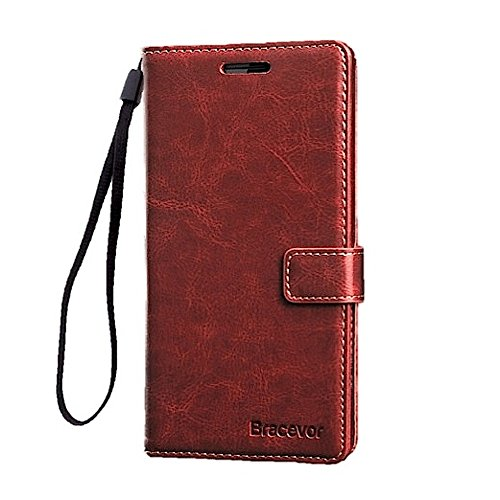 Bracevor Leather Wallet Style Flip Cover With Stand for OnePlus...