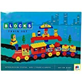 GRAPPLE DEALS Kinder Blocks Train Set - Interlocking Architectural Set For Kids.(Multicolor)