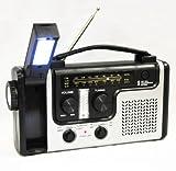 topAlert Emergency Solar Hand Crank Dynamo AM/FM/NOAA Weather Radio Flashlight Reading LED Light