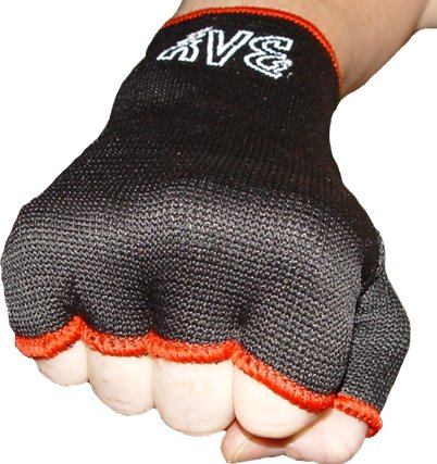 BAY® Schlupfbandagen Größe XS, schwarz, Faustbandagen, elastische Innenhandschuhe, Handbandagen, Boxbandagen, Box-Bandagen, 1 Paar