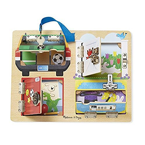 Melissa & Doug- Lock and Latch Board Juego Cerraduras