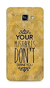 AMEZ your mistakes dont define you Back Cover For Samsung Galaxy A7 (2016 EDITION)