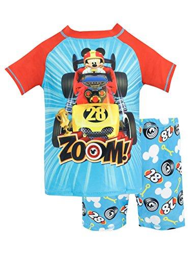 Disney costume da bagno per ragazzi a due pezzi topolino e gli amici del rally multicolore 2 - 3 anni