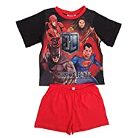 Justice League DC Comics Superman, Batman, Flash and Aquaman Boys Pyjamas Short Pjs Ages 3 to 10 Years
