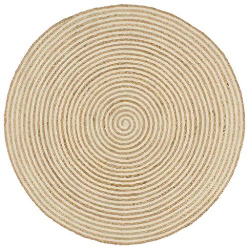yorten Alfombra de Yute Diseño Simple Alfombra de Yute Redonda Estilo