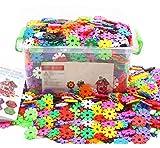 Enfants 500 pcs Blocs Briques Jeux de Construction DIY Emboîtement en Plastique Disque Ensemble Jigsaw Puzzle 3D Jouet Educatif Créativité Cadeau de Noël Anniversaire pour Garçon Fille Age 3-6 Ans
