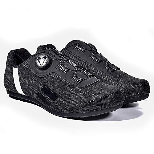 TSSM Rennradschuhe, Mountainbike-Schuhe, Carbon-Fahrradschuhe Herren Ultraleicht und atmungsaktiv Hochdichte, verschleißfeste Mikrofaser Unisex (EU 39-45-Größen),43