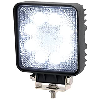AdLuminis LED Arbeitsscheinwerfer Arbeitsleuchte, 24 Watt 1440 Lumen, 60 Grad Lichtkegel, 12V 24V, IP67 Schutzklasse, 6000K, Zusatzscheinwerfer, Rückfahrscheinwerfer, Suchscheinwerfer