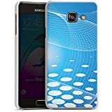 Samsung Galaxy A3 (2016) Housse Étui Protection Coque Points Bandes Bleu