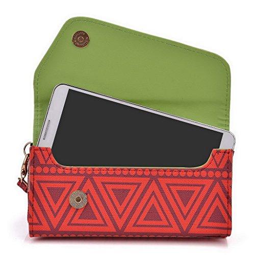 Kroo Pochette/étui style tribal urbain pour HTC One M9 Multicolore - White with Mint Blue Multicolore - rouge
