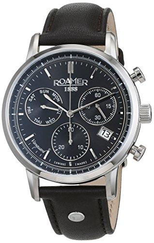 ROAMER Herren Analog Quarz Uhr mit Leder Armband 975819 41 55 09