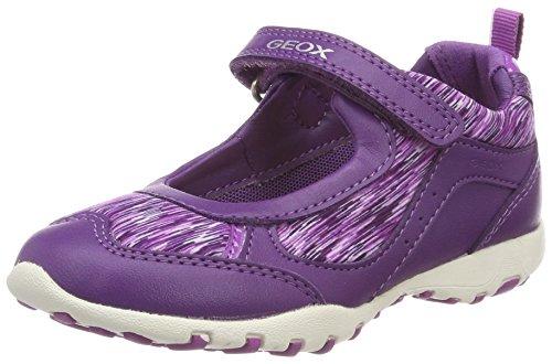 Geox Jr Freccia A, Ballerine con Cinturino alla Caviglia Bambina, Viola (Violet/Purple), 34 EU