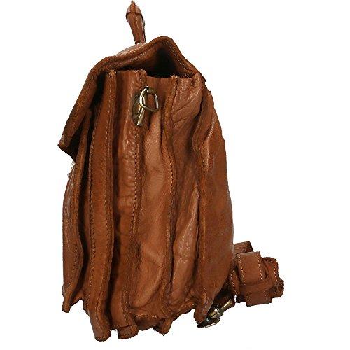 Portadocumenti da Uomo a mano Chicca Borse Vintage in Vera Pelle Made in Italy 37x32x12 Cm Cuoio