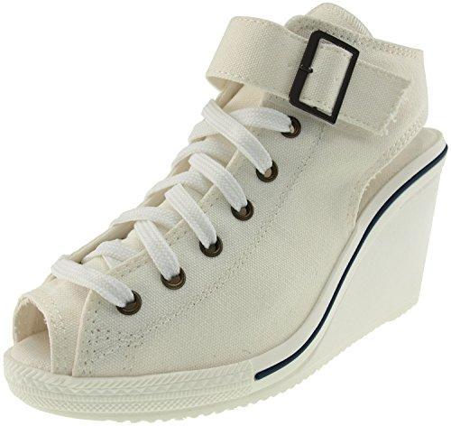 maxstar-775-toile-decorative-ouverte-wedge-sandals-chaussures-a-talon-blanc-blanc-38