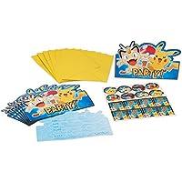 Amscan International 491844, Invitaciones con sobre de Pokémon
