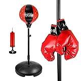 Boxing Speed Ball, a forma di pera sacco da boxe con PU girevole punch hooking appeso Speed Dodge Ball, ideali per allenamento di boxe/esercizi, Bambino