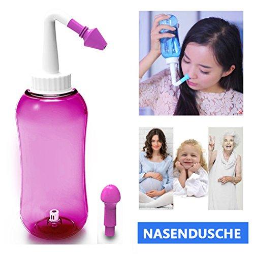 ONCCI Heuschnupfen Nasendusche / Allergie / Trockener Nase Nasendusche Nasenspülung Nasenreinigung Nase Spülen (500ml RED)