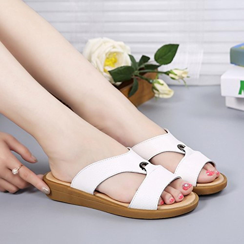 OME&QIUMEI Sommer Hausschuhe Sommer Schuhe Sommer Schuhe Kalte Schuhe Und Hausschuhe Mit Flachem Boden