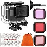 Custodia da Immersione Housing Case Kit filtro per GoPro Hero 7 Hero 6 Hero 5 Black Hero, Custodia impermeabile per immersione Custodia protettiva Shell
