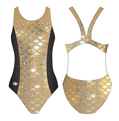 Diapolo oro costume da bagno Hollow raccolta di pesci per nuoto sincronizzato pallanuoto Thriathlon Fish3