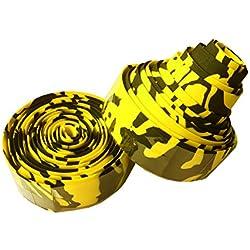 Cinta para manillar de bicicleta multicolor de alta calidad , negro/amarillo