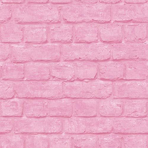 Rasch Portfolio Tapete 226805 - Feature Loft Bemalt Stein Mauer rosa Steine Portfolio