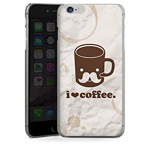 Apple iPhone X Silikon Hülle Case Schutzhülle Kaffee Tasse Liebe Hard Case anthrazit-klar