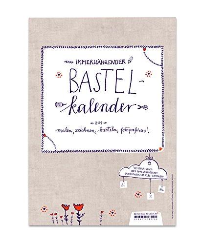 Bastelkalender zum Selbstgestalten, A4 Fotokalender, Recyclingpapier, immerwährend, Holland Design in Blau Weiß Rot Beige, Spiralbindung und Aufhängung (weiß), Flyer zum Selbsteintragen von 2018 anbei