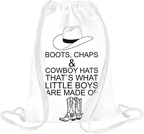 Boots Chaps & Cowboy Hats That's What Slogan Drawstring bag Chap-boot