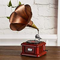 shunlidas Suerte Mopec Decorativas Vintage Gramófono Retro Vinilo Tocadiscos  Antiguo Hogar Metal Apoyos 626ce271636