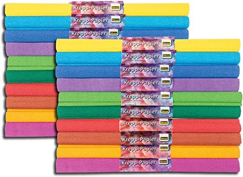 Idena Krepppapier 10 Rollen, je ca. 50 x 250 cm (10 Rollen, 2× sortiert)