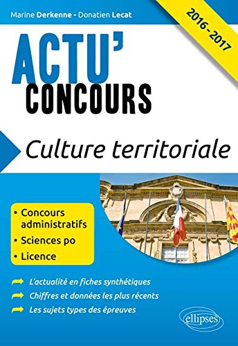 Culture Territoriale 2016-2017 Concours Administratifs Sciences Po Licence