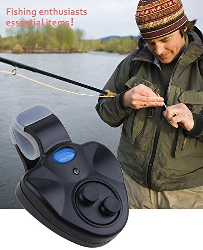 MelysEU LED Clip Light Fishing Rod Electronic Bite Alarm Fish Ringer Angeln Biss Alarm Electronic Fish Finder Alert Bell Alert-ringer