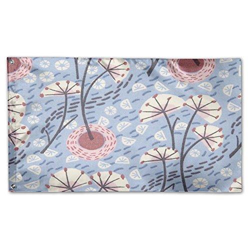 Floral Printe Garden Flagge 3'x 5', 100 % Polyester, weiß, Einheitsgröße -