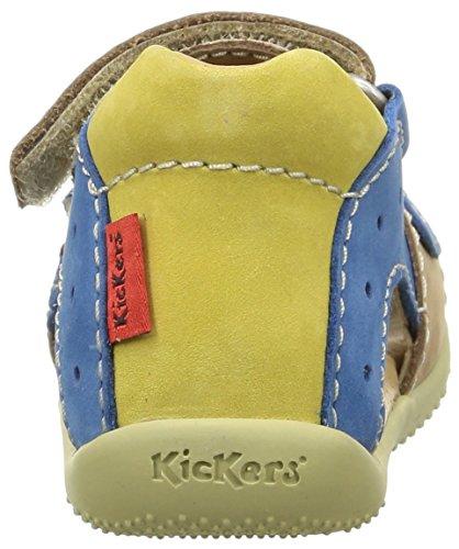 Kickers Boping Baby Jungen Babyschuhe - Lauflernschuhe Beige (Beige/Bleu/Jaune)
